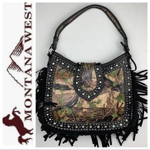 Montana West Concealed Carry Purse, Leather Fringe